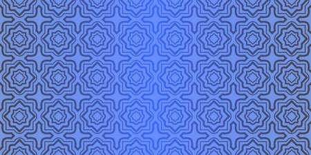 Seamless geometric pattern with decorative art-deco modern ornamnet. Vector illustration. Reklamní fotografie - 133973552