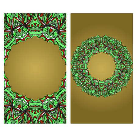 Vektor-Mandala-Muster für Vorlage, Flyer oder Einladungskarte. Vektorgrafik