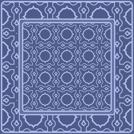 Decorative pattern for fashion print. Sample tablecloth or bandanna design. Vector illustration.