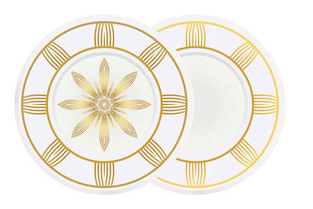 floral ornament plate for wall desight. vector illustration. Ilustrace