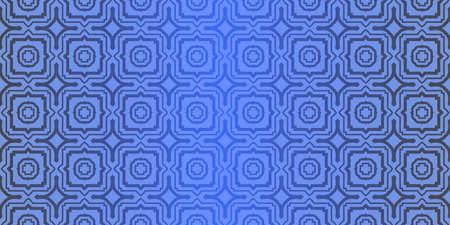 Seamless geometric pattern with decorative art-deco modern ornamnet. Vector illustration. Reklamní fotografie - 133972991