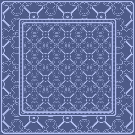 Decorative pattern for fashion print. Sample tablecloth or bandanna design. Vector illustration.