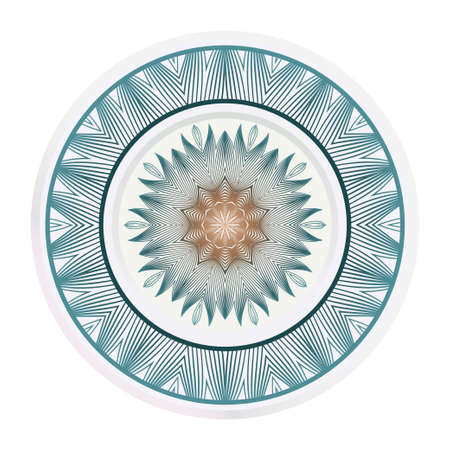 fashion medallion. vector illustration. plate with colorful ornaments