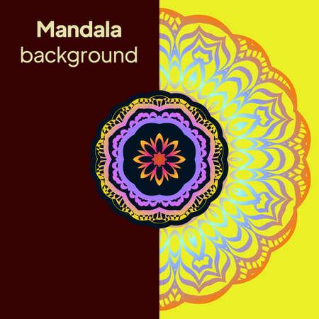 Ethnic Ornamental Mandala. Decorative Design Element. Illustration. Ilustração
