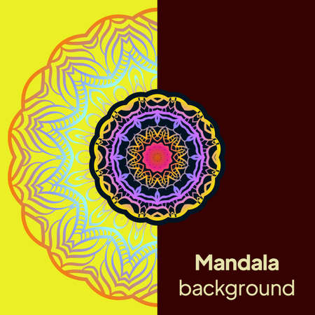 Mandala Pattern. Traditional Indian Mandala. Orient Tribal Circle Sign Illustration. Vector Illustration. Ilustração