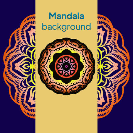Ornamental arabic pattern with mandala. Vintage vector for print or web design. Invitation, wedding card, national design. Illustration