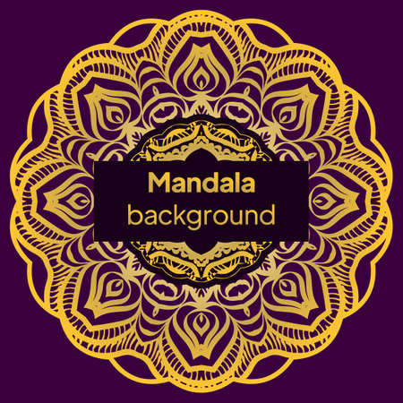 Vintage luxury decorative design of mandala. Vector illustration. Floral ornament
