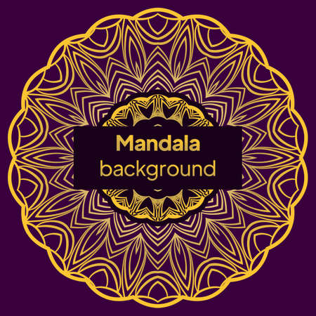 Mandala Pattern. Traditional Indian Mandala. Orient Tribal Circle Sign Illustration. Vector Illustration. Illusztráció