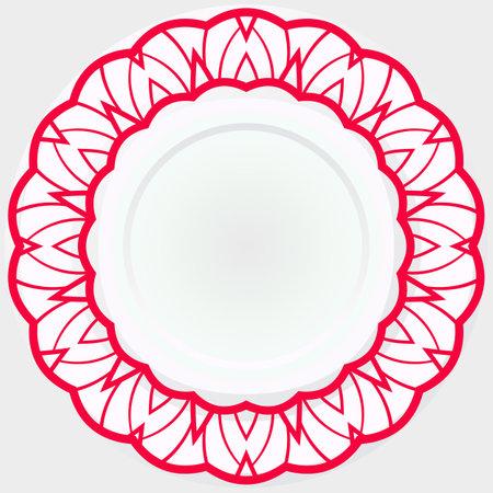 Rosette ornaments. Vector illustration for design. Sacred oriental mandala. color floral ornament. Modern Decorative Ilustración de vector