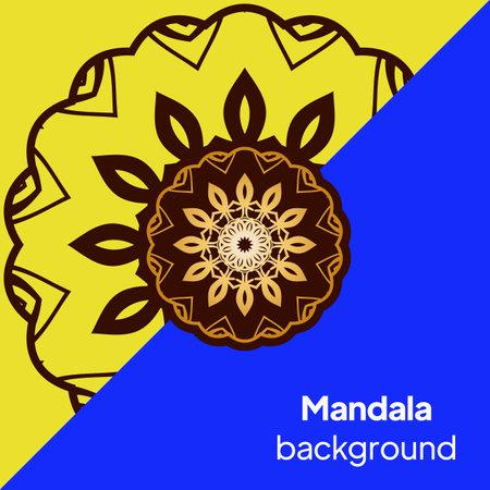 Flower coloring Mandala. decorative elements. Oriental pattern, vector illustration. Indian, moroccan, mystic, ottoman motifs