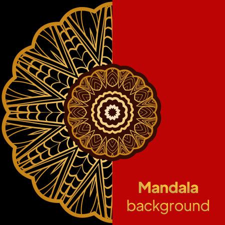 Ornamental Floral Pattern. Hand Draw Mandala. Decorative Elements. Illustration. Anti-Stress Therapy Pattern. Oriental Pattern. Indian, Moroccan, Mystic, Ottoman Motifs.