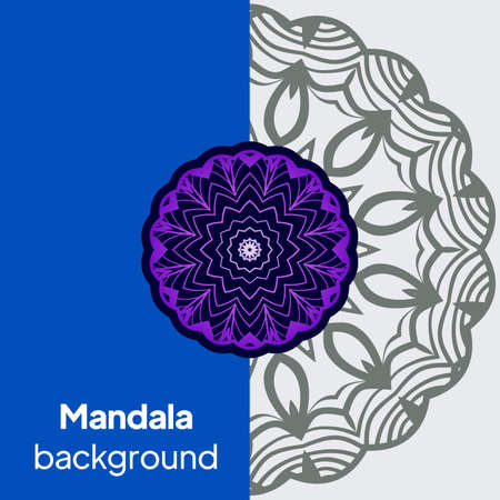mandala design elements. Wedding invitation, thank you card, save card. Vector illustration Banque d'images - 161409581