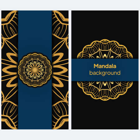Vintage Invitation card with Mandala pattern. Beautiful Ornament. Vector illustration. Illustration