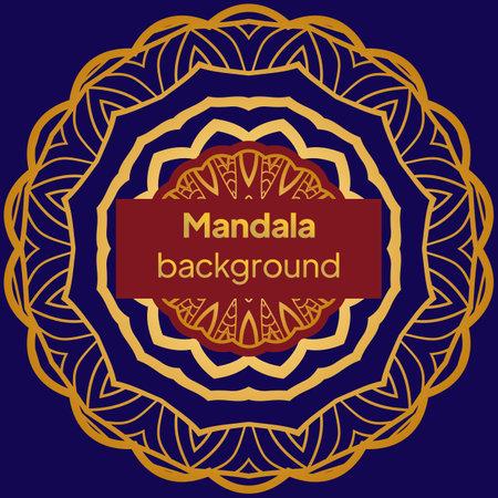 Luxury mandala background design for wedding invitation card cover. Vector illustration Banque d'images - 161409599