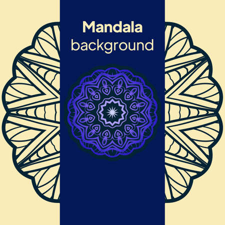 Ethnic Mandala ornament. Templates with mandalas. Vector illustration for congratulation or invitation. Banque d'images - 161409605