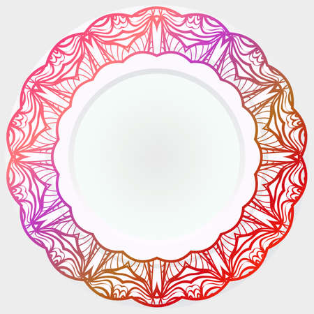 Pattern Of rosette. Vector Illustration. Modern Decorative Floral Color Mandala. Banque d'images - 161409608