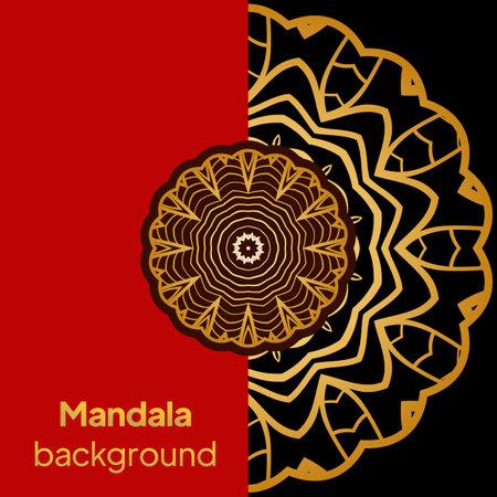 Luxury mandala background design for wedding invitation card cover. Vector illustration