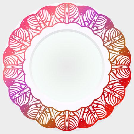 Pattern Of rosette. Vector Illustration. Modern Decorative Floral Color Mandala.