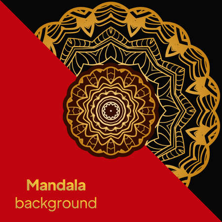 mandala design elements. Wedding invitation, thank you card, save card. Vector illustration