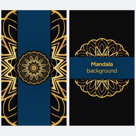 Flyer pages Ornament Illustration Concept with Mandala. Vintage Art Indian, Magazine. Vector Decorative Layout Design. Vector Banque d'images - 161409625