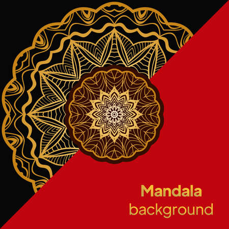 Luxury background. with floral mandala Vector card template. Banque d'images - 161409630