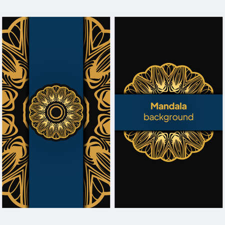 Background with lace mandala ornament. Template greeting card design. Decoration elements for design invitation, wedding cards, greeting cards. Vector
