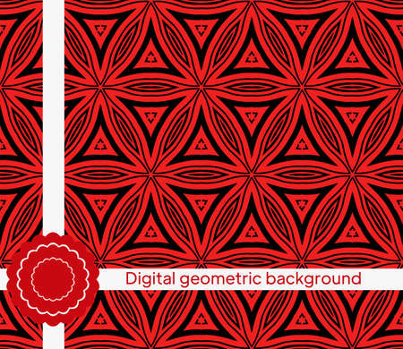 Vector background with seamless geometric pattern. For decoration, invitation, design