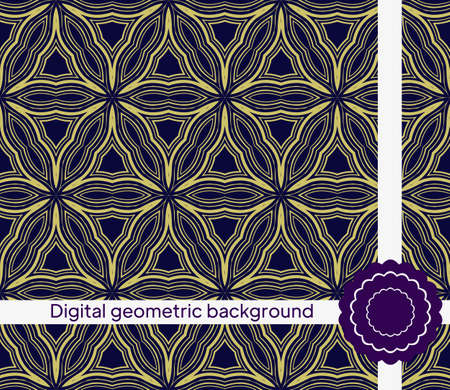 Abstract Vector Seamless Pattern With Abstract Geometric Style. For Fashion Interiors Design, Wallpaper, Textile Industry.