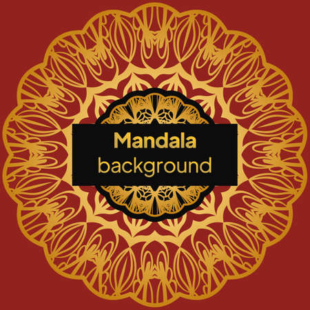 Vintage cards with Floral mandala pattern. vector template. Illustration