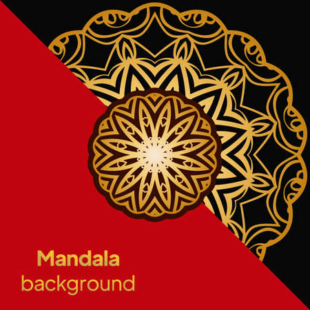 Yoga Card Template With Mandala Pattern. For Business Card, Fitness Center, Meditation Class. Vector Illustration. Banque d'images - 161409806