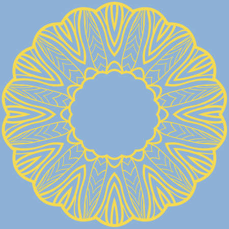 Vector pattern of flowers, mandala flower. Elements for greeting cards, invitations, and store design. Pattern in a circle.