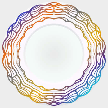 Floral rosette. Round mandala pattern. Vector illustration