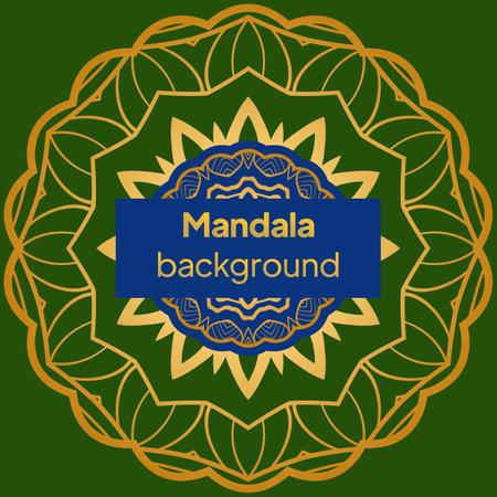 Flower Mandalas. Vintage decorative elements. Vector illustration