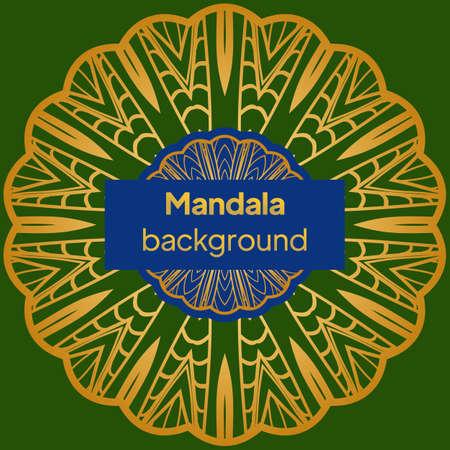 Mandala, tribal vintage background. Vector illustration Ilustração