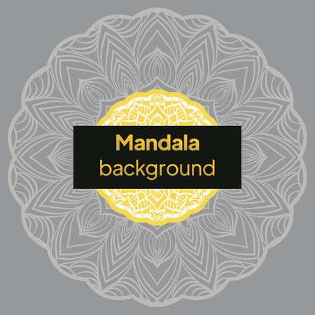 Floral mandala - the Sacred Vector illustration Ilustração