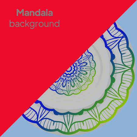 Mandala. Vintage decorative elements. Vector illustration