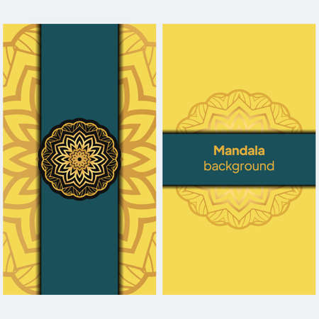 Invitation background With Beautiful ornament. Vector illustration Ilustração