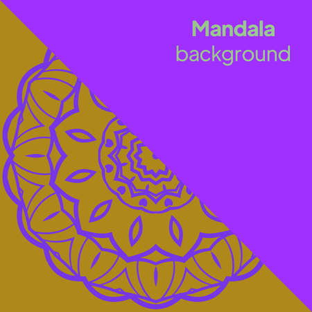 mandala image for relaxing. vector illustration Illustration