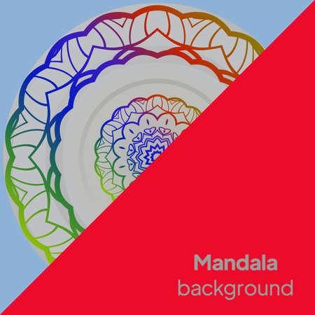 Round mandala on background. Vector boho mandala Illusztráció