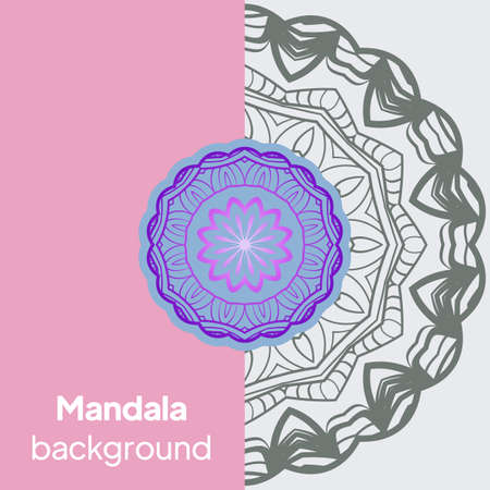 Luxury mandala background with arabesque pattern a for Wedding card, book cover. Vector illustration Illusztráció