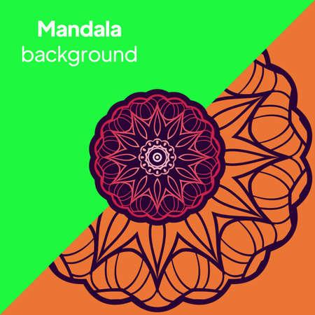 Mandala. India. Geometry. Ornament. Vector Decoration. Illusztráció