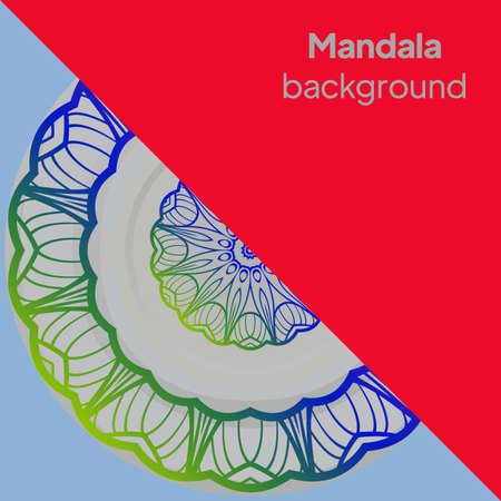 Flower Mandala. Printable package decorative elements. Vector illustration