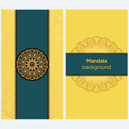 Banners with ethnic design. Vector illustration