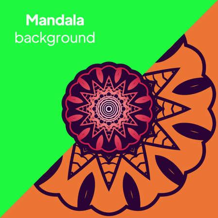 Floral mandala - the Sacred Vector illustration Imagens - 164083911