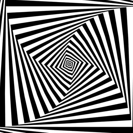 pattern of simple shape, geometric lines. Optical illusion. Vector illustration. As background, pictures, wallpapers Illustration