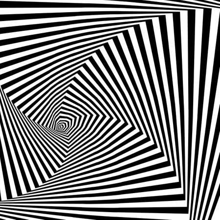 Design monochrome illusion background. Vector illustration