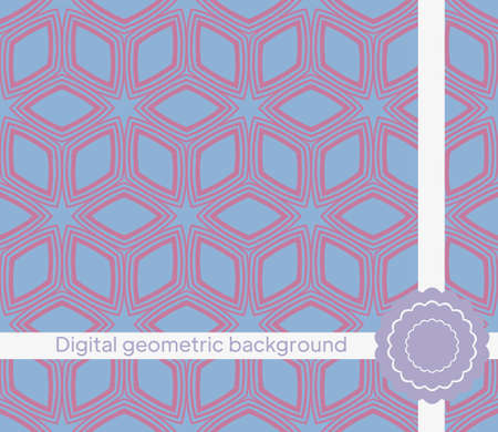 Seamless decorative pattern with arabic ornament. Vector illustration