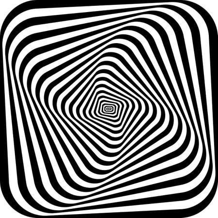 pattern of simple shape, geometric lines. Optical illusion. Vector illustration. As background, pictures, wallpapers Illusztráció