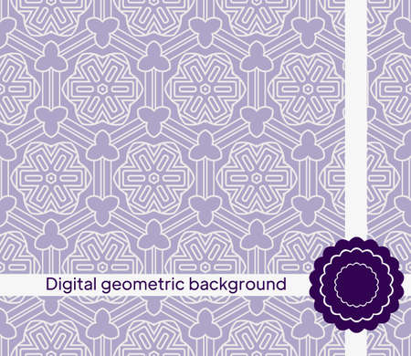 Vector seamless pattern with abstract geometric style. For Interior Design, Printing, Web And Textile Design. Illusztráció