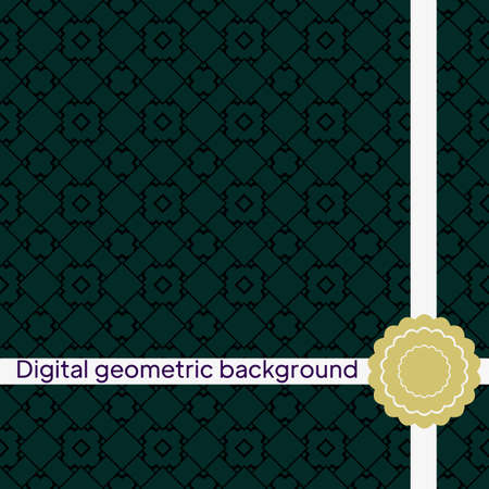Seamless Pattern With Abstract Geometric Style. Repeating Sample Figure And Line. Vector illustration.
